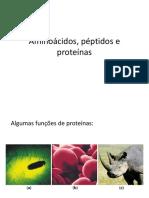 Aminoácidos peptidos e proteínas