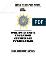 BECE CHIEF EXAMINERS REPORT 2013.docx