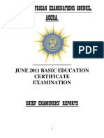CHIEF EXAMINERS REPORT 2011