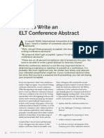 How to Write an ELT Conference Abstract