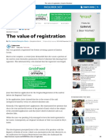 The Value of Registration (by Dean Ma. Soledad Deriquito-Mawis)