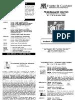 Programa Del 12 Al 19 de Enero 2020