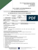 Bulletin for Advanced Fluid Mechanics at BME