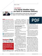 How to repair bladder injury