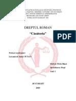 Referat- Casatoria - Dreptul Roman