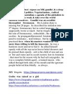 MK GANDHI EXPOSED and Global Politics
