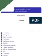write mathematics Lecture