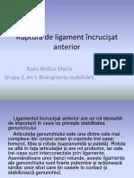 Ruptura de ligament incrucisat-Radu Rodica Maria.pptx