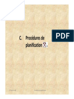 3 Procédures de planification