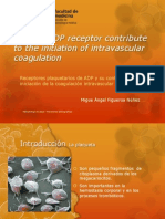 Platelet ADP Receptor Contribute to the Initiation of Intravascular Coagulation