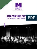 Propuestas Del Equipo Parlamentario Morado 2020