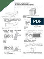 Simulado Geometria Espacial