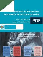 Plan Nacional de Prevención e Intervención de la Conducta Suicida