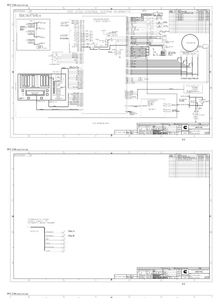 Cummins Power Generation PCC2100 Control System Schematic