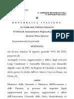 SILENZIO RIFIUTO TAR Lazio 2019
