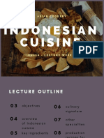 Copy of CUL5A - LECTURE- WEEK 9- INDONESIAN CUISINE