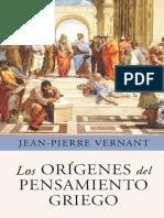 Vernet, J. P.  Los orígenes del pensamiento griego