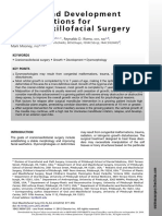 Growth and Development Considerations for Craniomaxillofacial Surgery