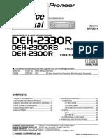 PIONEER  DEH-2330R,2300RB,2300R