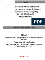 Cours03 Windows Server 2012 R2 Service Impression