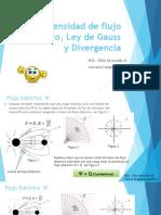 3 Diapositivas Densidad de Flujo Electrico, Ley de Gauss y Divergencia v1