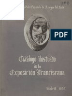 CATÁLOGO de la exposici{on franciscana