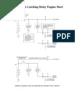 Single Pushbutton Latching Relay Engine Start Circuit