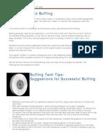 Buffing Tech Tips