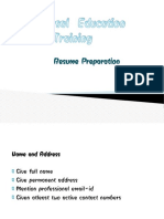 Resume Preparation pdf