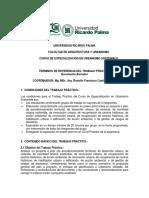 Terminos de Referencia Trabajo  Practico - PEUS FAU URP 2019