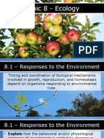 AP Biology - 8.1 - Responses to the Environment.pptx