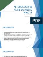 METODOLOGIA DE ANALISIS DE RIESGO WHAT IF WILLIAM MONTOYA.pptx