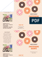 Cream Orange and Pink Dots and Donuts Advertising Trifold Brochure
