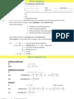 Error Analysis     .ppt