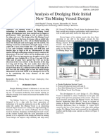 Seakeeping Analysis of Dredging Hole Initial Design of a New Tin Mining Vessel Design