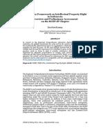 Regulatory Framework in IPR in Indonesia