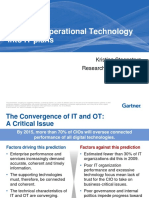 Integrate operational technology into IT plans