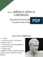 A COMÉDIA LATINA & LISÍSTRATA História e Arte.pptx