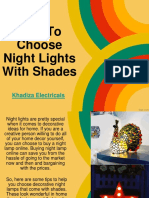 Tips to Choose Night Lights with Shades