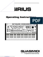 Quasimidi Sirius-manual