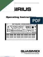 Quasimidi Sirius-manual