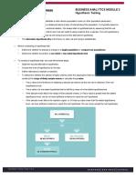 BA Module 3 Summary
