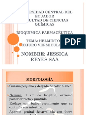 Tratamiento para oxiuros en adultos pdf