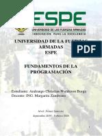 UNIVERSIDAD DE LA FUERZAS ARMADAS                                            ESPE.docx