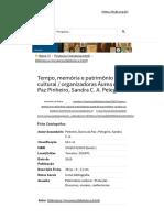 Tempo, memória e patrimônio cultural.pdf