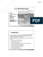 Lecture 04 - Renewable energy