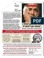 Obama Ineligible - I tried and lied but it won't go away! Wash Times Natl Wkly 2010-11-29 pg 5