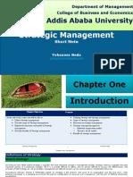 Strategic Management CH-1