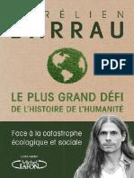 EBOOK Aurelien Barrau Le plus grand defi de lhistoire de lhumanite