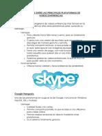 Diferencias Entre Las Principales Plataformas de Videoconferencias